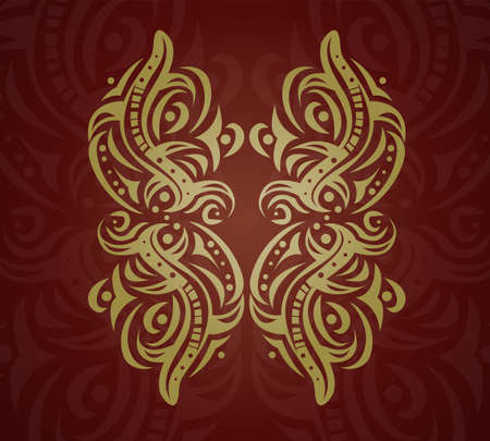 Abstract golden shape. Illustration 10 version Vector
