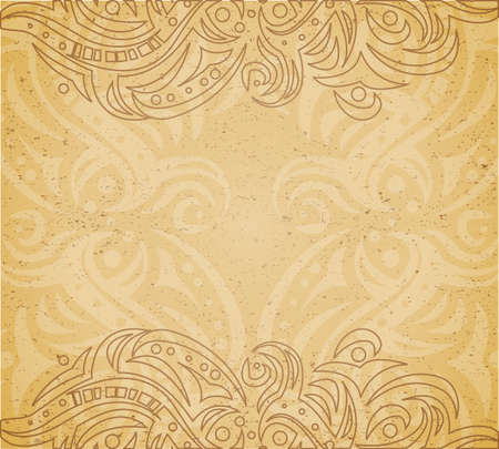 old paper texture: Vintage background with ornament.  Illustration 10 version
