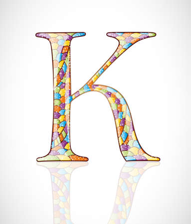 Abstract letter K. Illustration 10 version Vector