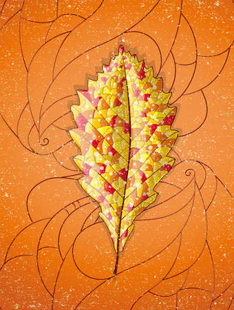 Autumn colorful leaf. Illustration 10 version Illustration