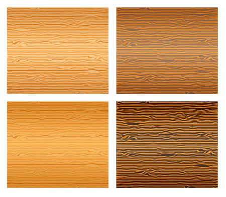 Wood textures set. Illustration 10 version