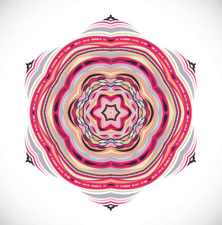 Colorfull ornamet snowlake. Illustration 10 version