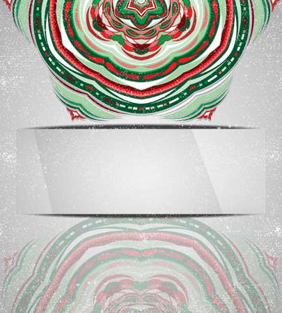 Colorful ornament snowflake. Illustration 10 version Vector