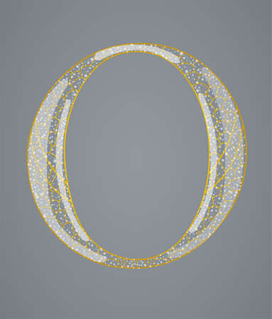 Abstract golden letter O. Illustration 10 version Vector