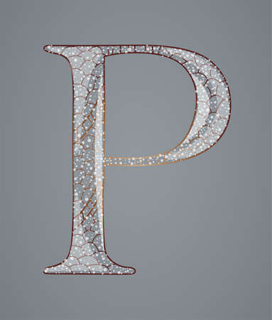 Abstract letter P. Illustration 10 version Vector