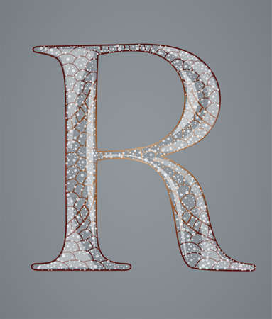Abstract letter R. Illustration 10 version Vector