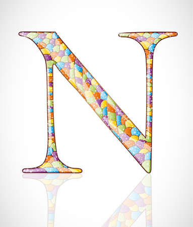 Abstract letter N. Illustration 10 version