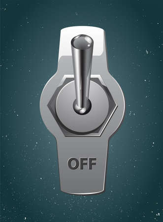 toggle: Metallic toggle.  Illustration