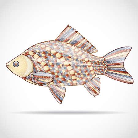 pez abstracto: Resumen de los peces. Ilustraci�n 10 versi�n. Vectores