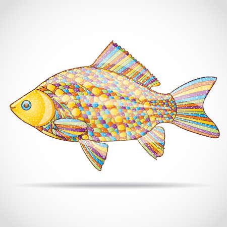 abstract fish: Abstract fish. Illustration 10 version.