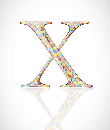 Abstract letter X. Illustration 10 version Vector