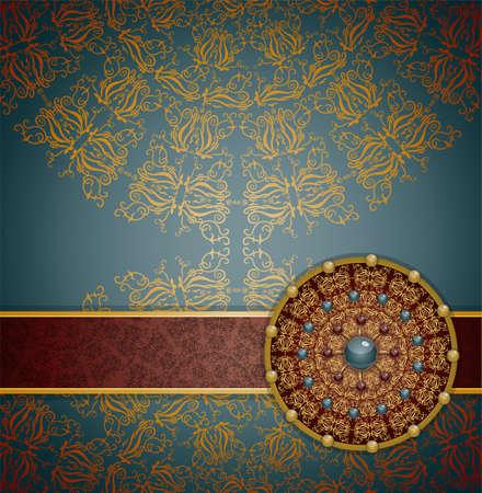 Retro background with ornament, Illustration 10 version Illustration