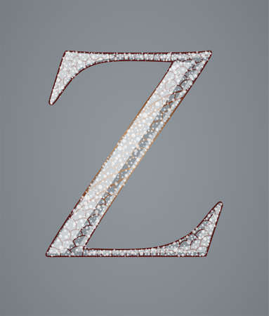 Abstract letter Z. Illustration