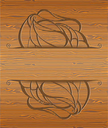 Wood texture with abstraction. Illustration 10 version