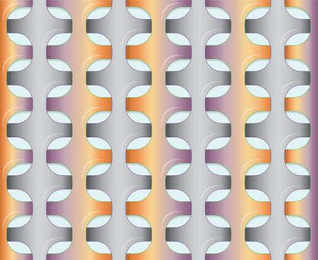 wickerwork: Orange - violet pattern. Illustration 10 version
