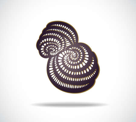 Abstract isolated violet shape. Illustration 10 version