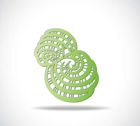 Abstract isolated green shape. Illustration 10 version Illustration
