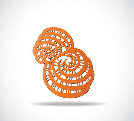 wallpaper  eps 10: Abstract isolated orange shape. Illustration 10 version