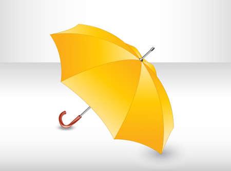yellow umbrella: Yellow umbrella.
