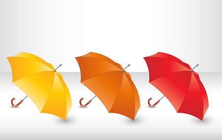umbrella: Set with umbrellas. Illustration 10 version
