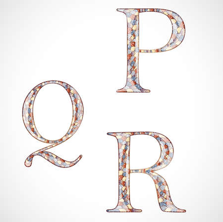 abstract letters: Set with abstract letters. Illustration 10 version