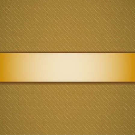 golden ribbon: Background with golden ribbon. Illustration 10 version.