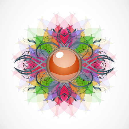 Abstract transparent background with broach. Illustration 10 version.
