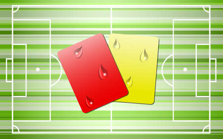 foul: Sad warning and ban cards. Illustration 10 version Illustration