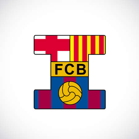 Football club barcelona. Illustration 10 version