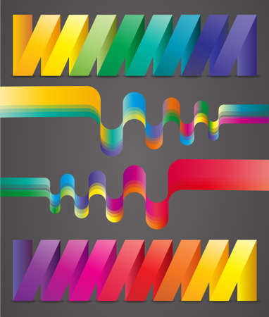 crankle: Abstract colorful ribbons. Illustration 10 version.