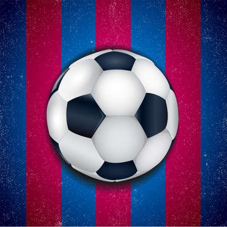 Blauw - granaatappelachtergrond met voetbalbal.