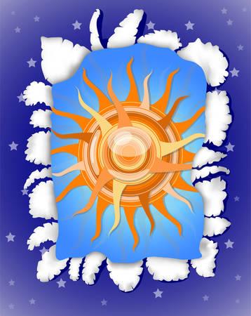 Sunny day and  dark night. Illustration 10 version