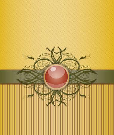 ribbon background: Retro background with ornament. Illustration 10 version