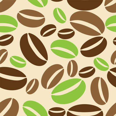 arabica: Seamless background with coffe beans. Illustration 10 version. Illustration