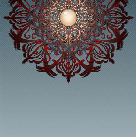 ouch: Retro background with ornament. Illustration 10 version