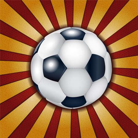 metallic  sun: Football ball on metallic background. Illustration 10 version.