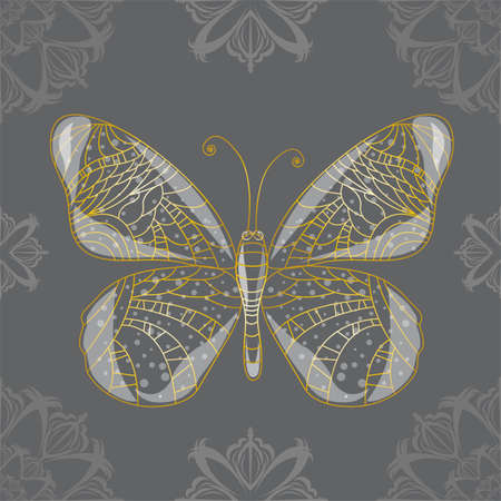 Seamless background with butterfly. Illustration 10 version Illustration