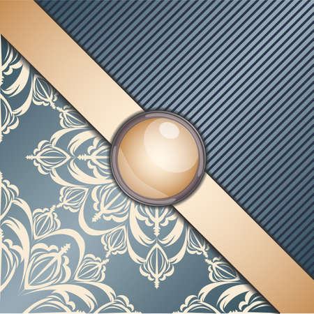 broach: Retro background with ornament. Illustration 10 version