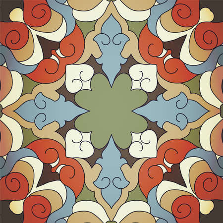 gaudy: Vintage background with ornament. Illustration 10 version