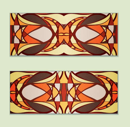 Colorful gift cards. Illustration 10 version Illustration