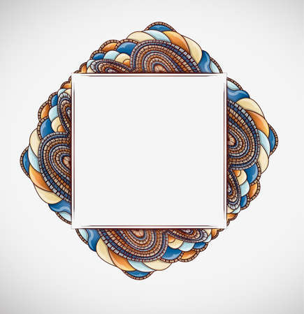 Abstract  background with frame. Illustration 10 version