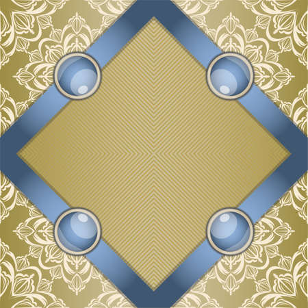 broach: Retro background with ornament. Illustration