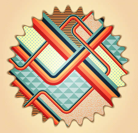 stile: Retro stile abstract  background. Illustration