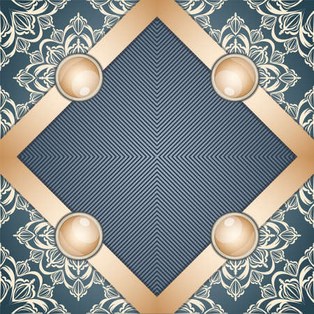 broach: Retro background with ornament