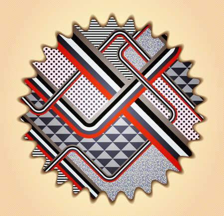 stile: Retro stile abstract background