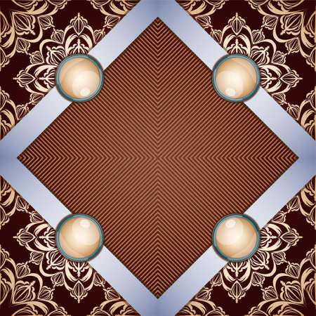 florid: Retro background with ornament. Illustration 10 version