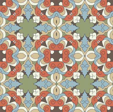 gaudy: Vintage background with ornament.