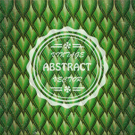 leathern: Vintage floral abstract background. Illustration