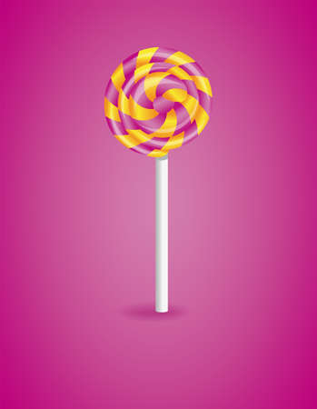 Vector illustration with candy. Illustration