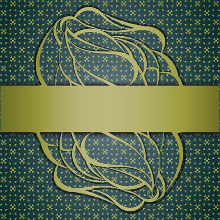 Floral abstract background with ribbon.
